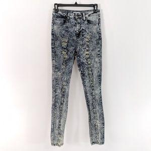 Cello Junior Jeans High Waist Skinny Acid Wash